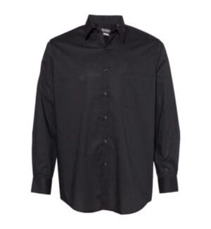 13V5052 Van heusen broadcloth point collar solid shirt