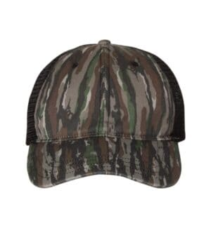 111P Richardson washed printed trucker cap