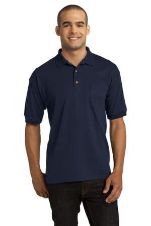8900 gildan dryblend 6-ounce jersey knit sport shirt with pocket