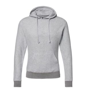 J america 8709 flip side fleece hooded pullover