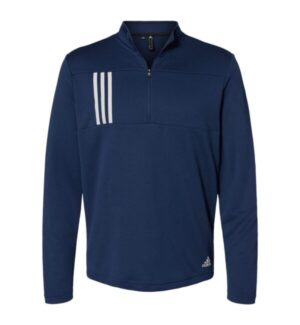 Adidas A482 3-stripes double knit quarter-zip pullover