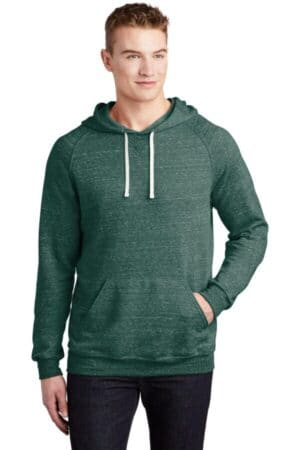 jerzees snow heather french terry raglan hoodie 90m