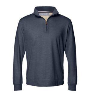 Weatherproof 2130060 vintage microstripe quarter-zip pullover
