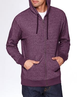 9600 adult pacifica denim fleece full-zip hooded sweatshirt