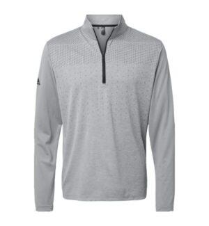 Adidas A522 heather block print quarter-zip pullover