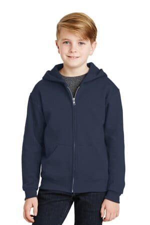 jerzees-youth nublend full-zip hooded sweatshirt 993b
