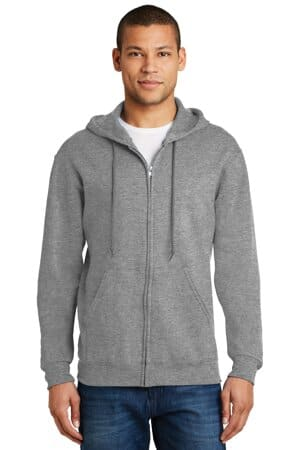jerzees-nublend full-zip hooded sweatshirt 993m