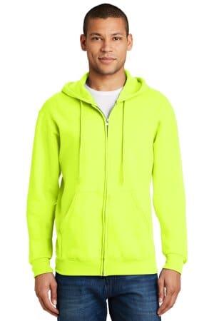 jerzees-nublend full-zip hooded sweatshirt 993m