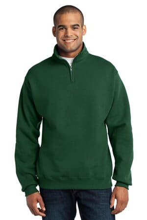 jerzees-nublend 1/4-zip cadet collar sweatshirt 995m