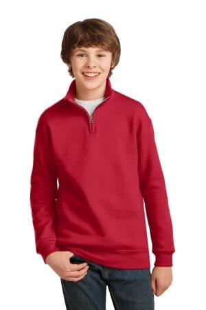 995Y jerzees youth nublend 1/4-zip cadet collar sweatshirt
