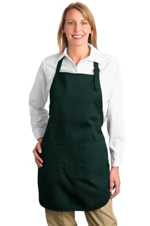 A500 port authority full-length apron with pockets