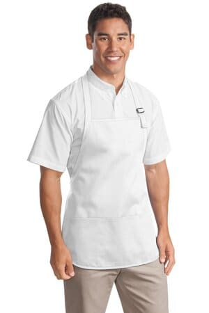 port authority medium-length apron with pouch pockets a510