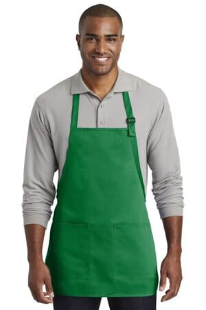 port authority medium-length two-pocket bib apron a601