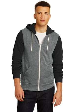 alternative colorblock rocky eco-fleece zip hoodie aa32023