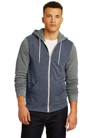 AA32023 alternative colorblock rocky eco-fleece zip hoodie