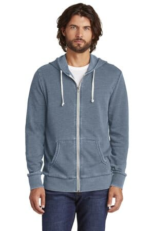 AA8636 Alternative apparel alternative burnout laid-back zip hoodie aa8636