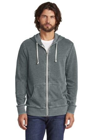 AA8636 Alternative apparel alternative burnout laid-back zip hoodie aa8636
