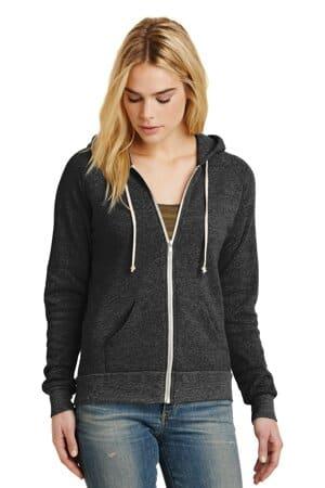 alternative women's adrian eco-fleece zip hoodie aa9573