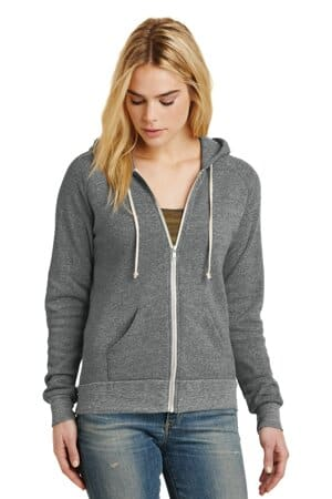 alternative women's adrian eco-fleece zip hoodie aa9573