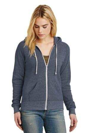 AA9573 alternative women's adrian eco-fleece zip hoodie
