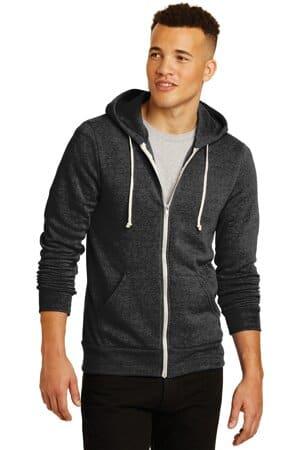 AA9590 Alternative apparel alternative rocky eco-fleece zip hoodie aa9590