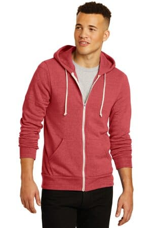 AA9590 Alternative apparel alternative rocky eco-fleece zip hoodie aa9590