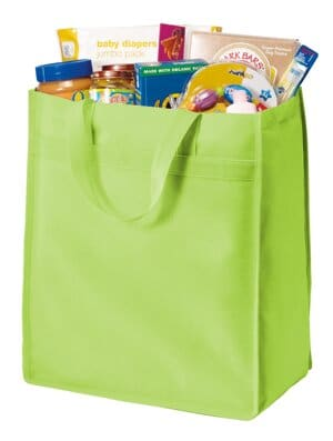port authority standard polypropylene grocery tote b159