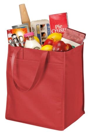 port authority-extra-wide polypropylene grocery tote b160