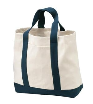 B400 port authority-two-tone shopping tote b400