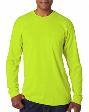 Bayside BA1730 adult long-sleeve t-shirt with pocket