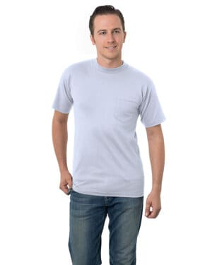 BA3015 Bayside adult 61 oz, cotton pocket t-shirt