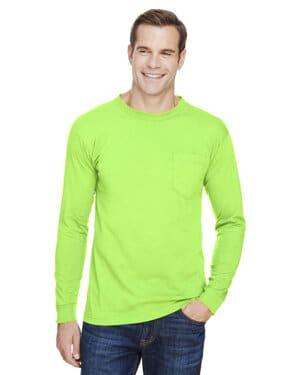 BA3055 unisex union-made long-sleeve pocket crew t-shirt