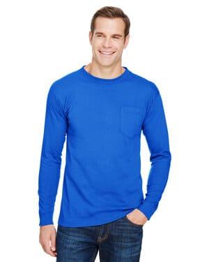 BA3055 Bayside unisex union-made long-sleeve pocket crew t-shirt