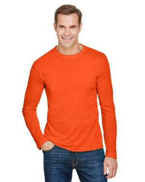 unisex 45 oz, 100% polyester performance long-sleeve t-shirt