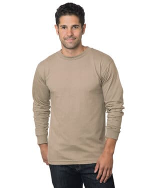 BA6100 Bayside adult 61 oz, 100% cotton long sleeve t-shirt