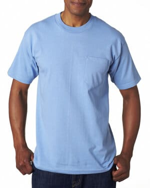 BA7100 Bayside adult 61 oz, 100% cotton pocket t-shirt