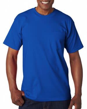 Bayside BA7100 adult 61 oz, 100% cotton pocket t-shirt