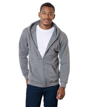 adult 95oz, 80% cotton/20% polyester full-zip hooded sweatshirt