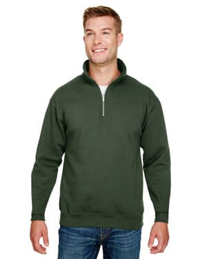 unisex 95 oz, 80/20 quarter-zip pullover sweatshirt