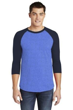 BB453W american apparel poly-cotton 3/4-sleeve raglan t-shirt