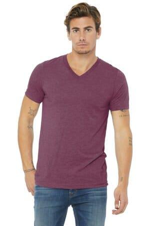 bella canvas unisex triblend short sleeve v-neck te bc3415