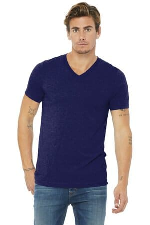bella canvas unisex triblend short sleeve v-neck te bc3415