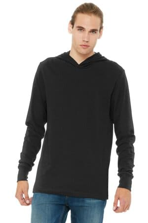 bella canvas unisex jersey long sleeve hoodie bc3512