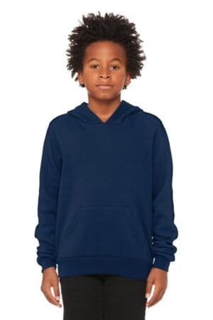 bella canvas youth sponge fleece pullover hoodie bc3719y