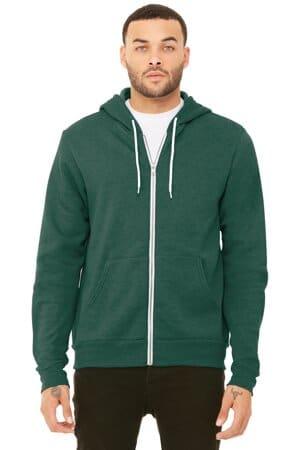 BC3739 bella canvas unisex sponge fleece full-zip hoodie