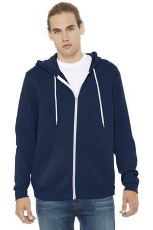 bella canvas unisex sponge fleece full-zip hoodie bc3739