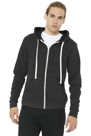 bella canvas unisex triblend sponge fleece full-zip hoodie bc3909
