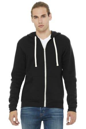 bella canvas unisex triblend sponge fleece full-zip hoodie bc3909