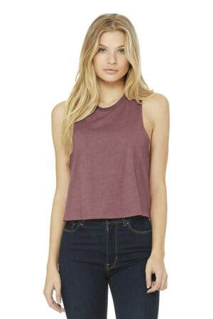 bella canvas women's racerback cropped tank bc6682