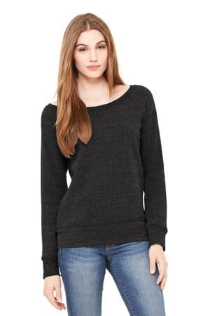 bella canvas women's sponge fleece wide-neck sweatshirt bc7501